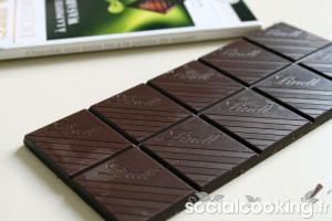 Chocolat noir Lindt à la pointe de Wasabi : décevant
