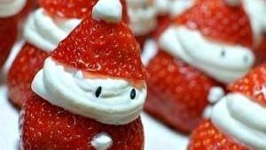 Idée recette pour les fêtes : Les fraises façon Père Noël :)